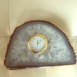 Crystal geode clock